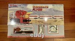 Williams By Bachmann Santa FE Flyer Ready to run O gauge electric train set
