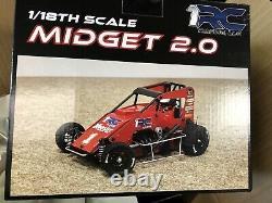 1/18 Midget 2.0, Noir, Avec Clear Body Set Ready-to-run