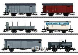 46520 Kofferli 6 Wagons De Marchandises Set 3-rail Prêt À L'emploi - Railwa Fédéral Suisse