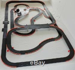 53,5' Afx Tomy Lumineux Firebird Raceway Géant Piste Emplacement Set Voiture, Prêt À Run
