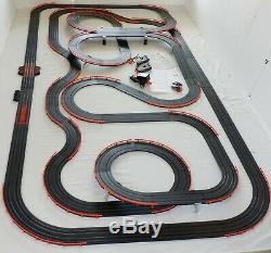 61' Afx Tomy Lumineux Firebird Raceway Géant Piste Emplacement Set Voiture, Prêt À Run