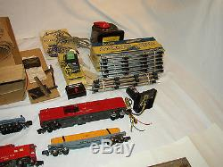 American Flyer Train Set 5007 Santa Fe Chrome Diesel Fret Prêt À Fonctionner # Ss-35