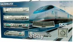 Bachmann 01205 Ho 2019 Spectre DC / DCC Amtrak Acela Set Prêt À Fonctionner