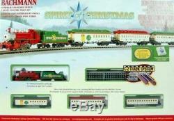 Bachmann # 24017 N Calibre Esprit De Noël Steam Train Prêt À Runmib