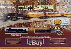 Bachmann 24020 Chars Durango & Silverton Steam Train Set Prêt À Run