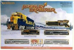 Bachmann 24023 N Échelle Alaska Mckinley Explorer Prêt À Exécuter Ensemble De Train Complet