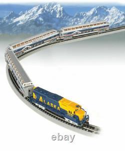 Bachmann 24023 N Scale Alaska Mckinley Explorer Prêt À Courir Train Set Nouveau