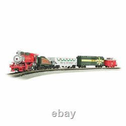 Bachmann 24027 N Scale Merry Christmas Express Train À Vapeur Prêt À Fonctionner