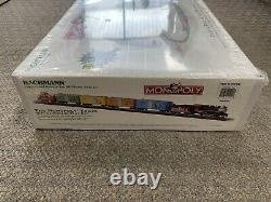 + Bachmann Ho Scale Monopoly Set De Train Prêt À Rouler Avec Tapis De Tableau De Bord Seeled St