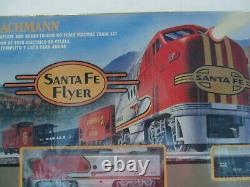 Bachmann Santa Fe Flyer Complet Et Prêt À Exécuter Ho Scale Electric Train Set