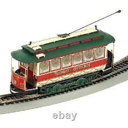 Bachmann Trains On30 Scale Christmas Village Streetcar Prêt À Courir Train Set