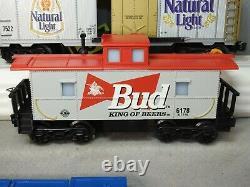 Beau Ensemble De Trains De Marchandises Locomotives Diesel Budweiser K-line L. N. Prêts À Courir