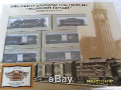 Ensemble Complet De Trains Ho Prêt À Fonctionner1996 Harley-davidsonmilwaukee Express