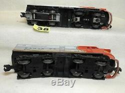 Ensemble De Deux Lionel Chars # 218 Santa Fe Alco Aa Diesel Locomotives Prêt À Fonctionner