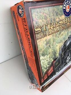 Ensemble De Passager À Vapeur Lionel Strasburg Rail Road Nouveau Dans Son Coffret De Train Prêt À Fonctionner