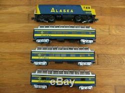 Ensemble De Passagers Diesel Mth Alaska F40ph Prêt À Fonctionner Avec Son Loco # 30-4055-0 Ex