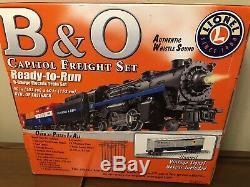 Ensemble De Rails De Train Lionel Ensemble De Marchandises B & O Capitol, Prêt À Fonctionner 7-11151 O Guage