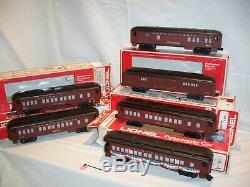 Ensemble De Six Lionel Chars Pennsylvania Railroad Passenger Voitures Ready To Run O. B