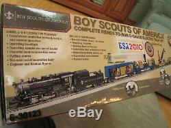 Ensemble De Train En O-gauge Prêt À L'emploi Pour Les 100 Ans Du Lionel Boy Scouts Of America