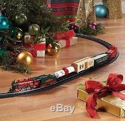 Ensemble De Train Pour Piste De Jouet Ovale Électrique Pour Enfant Adulte, Arbre De Noël