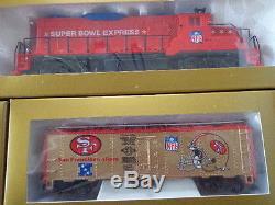 Ensemble De Train Prêt À Fonctionner Mantua Super Bowl Express NFL Certifié Première Édition