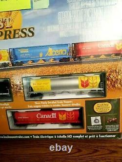Ho Scale Harvest Express Prêt À Faire Fonctionner Le Train Électrique Ensemble 00735 Bachmann Nouveau