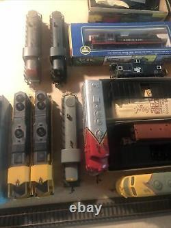 Ho Train Set Layout Prêt À Courir Moteurs Freight Cars Piste