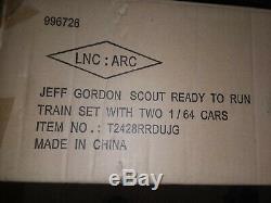 Jeff Gordon # 24 Lionel Scout Prêt-à-run Train # 630/999, With2 Diecast Scellés
