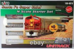 Kato 1060018 N Santa Fe Super Chef Passenger Train Set Prête Au Run 106-0018