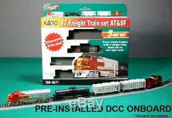 Kato N Echelle F7 Fret Train At & Sf Avec Ready To Run DCC # 106-6271dcc