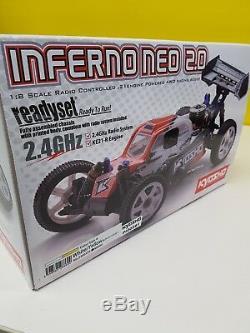 Kyo33002t1b Kyosho Inferno Neo Prêt Set Rtr 1/8 Buggy Nitro Ozrc
