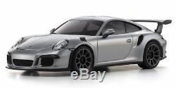 Kyosho 32321s Mini-z Porsche 911 Gt3 Rs Argent Rwd Rtr Ready Set F / S Du Japon