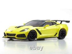 Kyosho 32334y Mr03 Mini Z Voiture Chevrolet Corvette Zr1 Racing Jaune Rtr Prêt