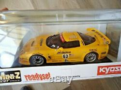 Kyosho Mini-z Racer Ready Set Voiture Rc Rtr 2002 Chevrolet Corvette C5-r Neuf 1/27