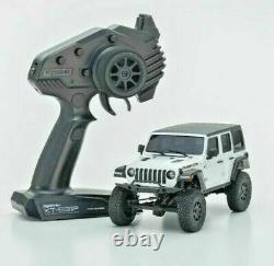 Kyosho Rc 1/28 Mini Z Jeep Wrangler Rubicon Ready Set Blanc -rtr