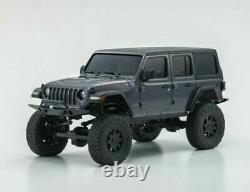 Kyosho Rc 1/28 Mini Z Jeep Wrangler Rubicon Set Prêt Gray -rtr