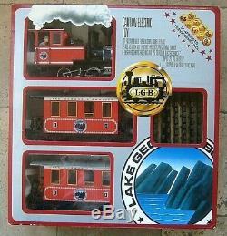 Lgb 25301 Coffret De Train Rouge Lake George & Boulder Prêt À Fonctionner Coffret De Départ, Échelle G
