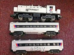 Lionel 6-11828 New Jersey Transit Prêt À Run Set Train En Box. Difficile À Trouver