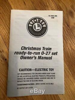 Lionel 6-21944 Set De Noël Prêt À Courir 0-27
