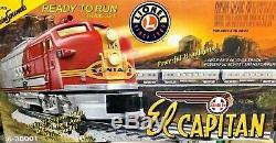 Lionel 6-30001 Set De Train Prêt À Fonctionner El Capitan Santa Fe, 4 Voitures, 8 Pistes