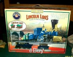 Lionel 6-30106 Grande Lincoln Logs Ouest Prêt À L'emploi O Gauge Train