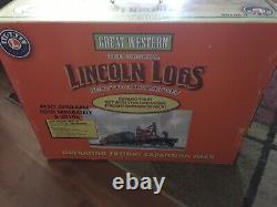 Lionel 6-30106 Great Western Lincoln Logs Prêt À Courir Jeu Ensemble