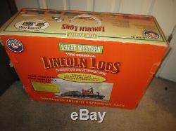 Lionel 6-30106 Great Western Lincoln Logs Prêt À Courir L'ensemble De Train De Jauge En O