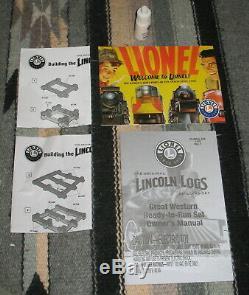 Lionel 6-30106 Great Western Lincoln Logs Prêt À L'emploi O Gauge Train