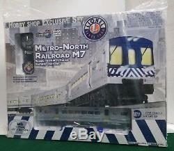 Lionel 6-82188 Metro-north Railroad M7 Set De Train De Jauge En O Prêt À Fonctionner Plume