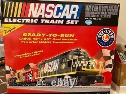 Lionel 7-11004 Train De Nascar Prêt À Fonctionner Ensemble Vaste 40x60 Ovale Fastrack