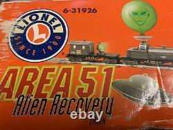 Lionel Alien Recovery Area 51 Diesel Engine Set 6-31926! O Jauge Prête À Fonctionner