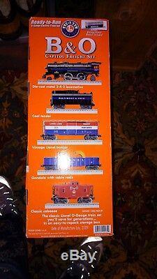 Lionel B & O Ensemble De Fret Capitol, Train Électrique De Calibre 0, Prêt À Fonctionner 7-1115