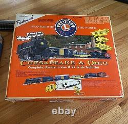 Lionel Chesapeake & Ohio Complète, Prête À Courir Ensemble De Trains À L'échelle O-27. 6-31904