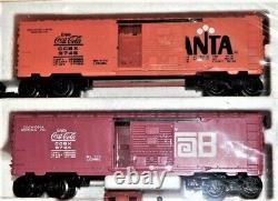 Lionel Coca Cola Diesel Switcher Set Avec 4 Cars Prêts Au Run 6-1463